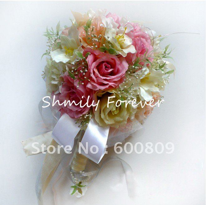 Modern Beautiful Colors Artificial BouquetSilk Flower BouquetBridal