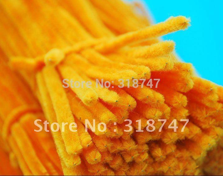 "12"" x 6mm orange 50pcs/pack Chenille Stems Pipe Cleaners Handmade Diy Art &Craft Material kids Creativity handicraft toys(China (Mainland))"