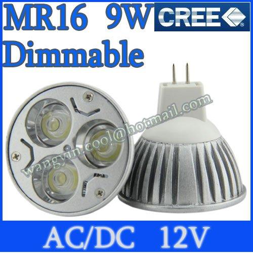 Dimmable Energy Saving MR16 GU5.3 6W 9W High Power CREE LED Light Bulb