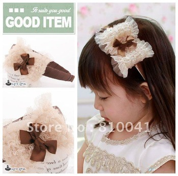 Baby's Satin  Hair Band  Girl's  Alice Band  Children's Hair Band Kid's Bow Headwear 50pcs Free Shipping