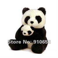 Free shipping-Wholesale Panda Toys 26cm Plush Stuffed Animal Panda Mother and Baby Toys