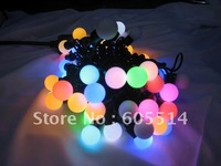 [Seven Neon]Free DHL shipping 2sets 220V 50bulbs/pcs waterproof colorful led lingting bulbs for X'mas