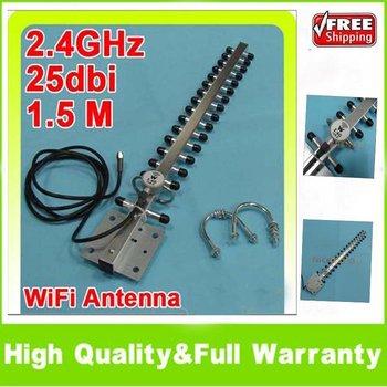 2.4GHz 25 dBi Wifi 802.11b/g Yagi Antenna RP-SMA Female