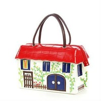 FREE SHIP-New Designer limited edition colorful Romantic Cottage Handbag/bag Fashion Women&ladies tote Patent  Handbag  Purse