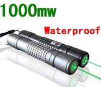 New 1000mW focusable green laser pointer flashlight / burning laser torch BURN matches free ship