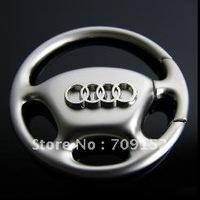 Whole Sales 100PC/lot Steering Wheel Car Logo Keychain/ Key holder, Free Shipping