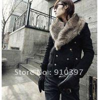 Free shipping 10% OFF hotsale  Fox fur collar Jacket,men's winter/spring coat/spring out wear
