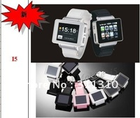 i5 1.75 inch Java FM Single Card Touch Screen Watch Cell Phone Black