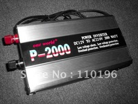 DHL Free Shipping 12V DC- 220V AC 2000W Travel Power Inverters With Charger  (P-2000C)