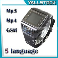 "New 1.33"" ET-2 Bluetooth Dual SIM Dual Standby Camera Watch Cell Phone Black"