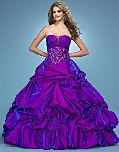 Purple And Pink Wedding Dress