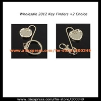 The Original Plain Blank Silver Heart / Round Shape Purse Key Finder +Wholesale (100pcs/lot) Free Shipping