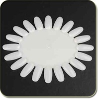 50 PCS False Acrylic Nail Art Demo Tips Display Practice Wheel Natural White Free shipping wholesale