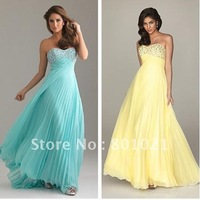 Fancy Newly Designed New Style A-line Strapless Chiffon Floor Length prom dress online