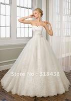 New Design CX-15 Elegant A-line Sweetheart Sleeveless Appliques White/Ivory Wedding Dress VESTIDO DE NOIVA