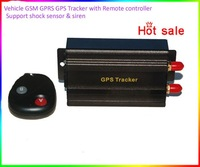 Car GPS tracker LS-TK103B with remote control for GSM GPRS GPS tracker for vehicles, bus, for taxi Frees Shipping