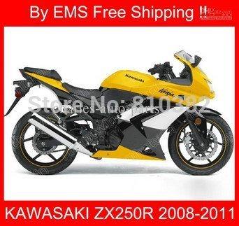 HIGH GRAADE full fairing kit for KAWASAKI Ninja ZX250R 08-11 ZX 250R 2008-2011 ABS PLASTIC ZX250 08 09 10 11YELLOW