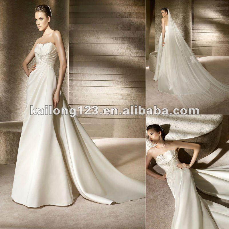 Sheath Wedding Dresses With Detachable Train Images