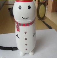 snow man shape hand press dynamo torch
