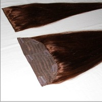 clip hair extension 9*2 inch/ 22'' length 4# 80g/pc straight /100% Chinese remy hair extensions/ high quality