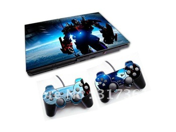 Protective Skin for PS2 + 2 controllers, free shipping!!! OEM & Mixed designs are available.