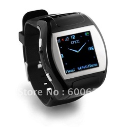 Free shipping watch phone,watch mobile phone,1.5 inch TFT touch screen Quad band Watch cell phone mobile MP4 FM Camera Bluetooth(China (Mainland))