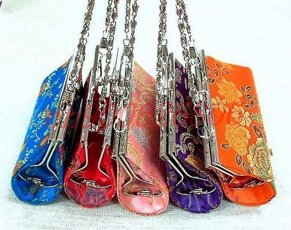 Free Shipping! New WHOLESALE 12 pcs Fashion Lady Handbag HANDMADE CHINESE SILK COIN PURSES Bags(China (Mainland))