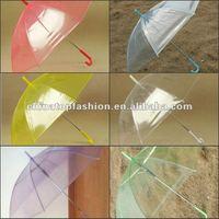 free shipping 100pcs/lot  DHL Free shipping many colors Romantic Fashion Umbrella Transparent umbrellas Clear Umbrellas