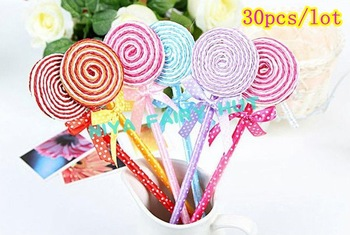 DHL fast shipping 300pcs/lot novelty Lollipop ball pens , office supplier,funny gifts