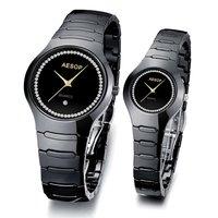 AESOP Black  color ceramic  strap automatic machine movement   Luxury Watches  Charming Quartz analog Watch  2pcs/lot 9901