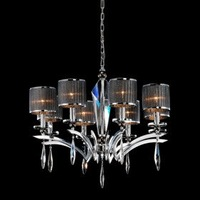 NEW Free Shipping High Quality Iron Chrome 8-light Crystal Ceiling Light with Lamp Cover (1048-NT9610-8)