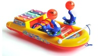 Free  shipping  Music toys - the the guyed steamboat shape of  rotating colorful percussion piano (3056)