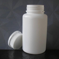 (300sets/lot) 200ml round white plastic bottle,powder bottle,capsule bottle
