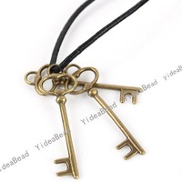 Wholesale - 195pcs New Arrival KEY  Antique Bronze Charms pendants vintage alloy pendant Beads Jewerly fit necklace 40MM 140891
