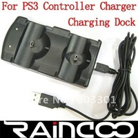 Free shipping Dual Charging Dock for Sony PS3 Controllers, For PS3 controller charger, retail packing