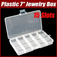 Jewelry Ring Necklace Earrings Plastic Box Case Storage#1520
