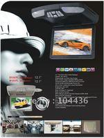 "12.1"" inches Roof Mount Car Flip Down DVD+ SD/USB Slot+IR+FM Transmitter"