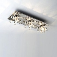 NEW Free Shipping High Quality K9 Crystal Flush Mount with 3 lights in Square
