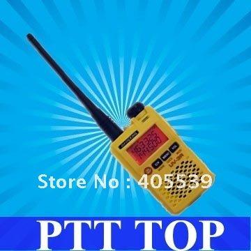 UV-3R (Mark II) Yellow BAOFENG 136-174/400-470Mhz mini radio Dual Frequency Display multi band FM transceiver(China (Mainland))