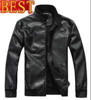BEST QUALITY/Free Shipping  20% OFF 100% GOOD FEEDBACKS men/male leather jacket/COAT /OUTWEAR