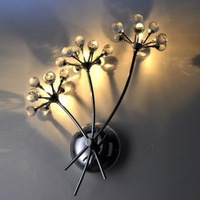 NEW Free Shipping High Quality K9 Crystal Wall Light with 3 Lights - Bouquet Design (G4 Bulb Base)