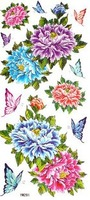 Free shipping hot selling fashion design sexy waterproof flower and butterfly tattoos sticker