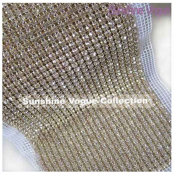 24-Row Handmade rhinestone Mesh Trimming with 5mm clear crystal, golden claw white thread 5 yards/lot DHL free shipping(China (Mainland))