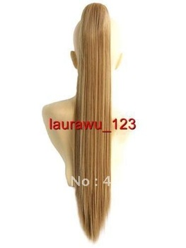 "$wholesale_jewelry_wig$ free shipping 26"" Heat Resistant Gold Blonde Cosplay Wig Ponytail Straight 65cm can choice 4 colour"