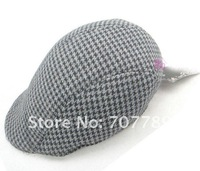 2011 hot sale wholesale 100% cotton women or 10-20yeas men cap hat, winter cap grey free shipping