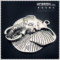 51*58 mm Free ship Tibetan Silver (15pcs) Zinc Alloy Jewelry Accessories Classic Elephant Charm(3908#)