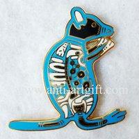 FREE SHIPPING,clup pin badge, custom kangaroo badges, logo kangaroo lapel pin