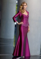 2013 Free shipping! hot sale!New Styles strapless satin full-length with jacket mother's dress mother of the bride dresses