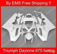 Motorcycle fairing kit for TRIUMPH DAYTONA 675 05 06 07 08 09 TRIUMPH Daytona 675 2005-2009 COOL White Fairings bodywork
