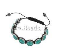 Браслет из бисера Mother's Day Gift Hand & Heart Wax Cord with Rhinestone Fashion Shamballa Women Vintage Bracelet 34x16mm 7.5 inch